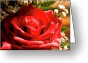 Rose Petals Greeting Cards - Rose for My Valentine Greeting Card by Thomas R Fletcher