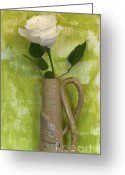 Lime Photo Greeting Cards - Rose from the Garden Greeting Card by Marsha Heiken