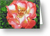 Watercolor By Irina Greeting Cards - Rose  Greeting Card by Irina Sztukowski