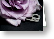 Love Framed Prints Framed Prints Prints Greeting Cards - Rose Love and Peace Tow Greeting Card by Karen Musick