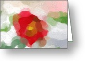 Designers Choice Digital Art Greeting Cards - Rose of Sharon Abstract Greeting Card by Don Wright