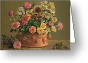 Autograph Greeting Cards - Rose Profusion Greeting Card by Lyndall Bass