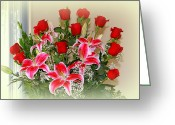 Floral  Greeting Cards - Roses Greeting Card by Athala Carole Bruckner