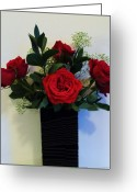 Babys Greeting Cards - Roses Dressed in Black Greeting Card by Marsha Heiken