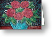 Pastel Roses Greeting Cards - Roses For My Honey Greeting Card by Karla Gerard