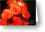 Floral Pyrography Greeting Cards - Roses Greeting Card by Pauli Hyvonen