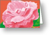 Award Digital Art Greeting Cards - RoseSummer-C Greeting Card by Eakaluk Pataratrivijit