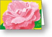Award Digital Art Greeting Cards - RoseSummerC-G Greeting Card by Eakaluk Pataratrivijit
