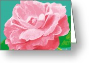 Award Digital Art Greeting Cards - RoseSummerC-T Greeting Card by Eakaluk Pataratrivijit