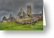 Galway Greeting Cards - Ross Friary Greeting Card by Gabriela Insuratelu