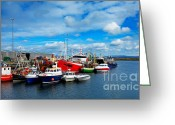 Colour Image Greeting Cards - Rossaveel harbour Greeting Card by Gabriela Insuratelu