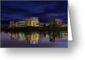 Skylines Photo Greeting Cards - Rosslyn Skyline Greeting Card by Metro DC Photography