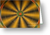 Diameter Greeting Cards - Rotating Dartboard Greeting Card by Yali Shi