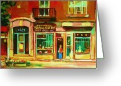 Store Fronts Greeting Cards - Rothchilds Jewellers On Park Avenue Greeting Card by Carole Spandau