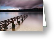 Loch Greeting Cards - Rotten Pier Greeting Card by Nina Papiorek
