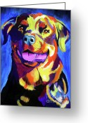 Dawgart Greeting Cards - Rottweiler - Starr Greeting Card by Alicia VanNoy Call