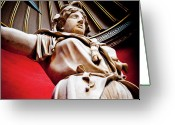 Emperor Greeting Cards - ROTUNDA COLOSSALS 2 of 3 vatican museum ancient statues rome italy Greeting Card by Andy Smy