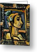 1930s Greeting Cards - Rouault: Circus Girl Greeting Card by Granger