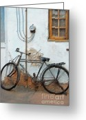 Old Bike Greeting Cards - Rough Bike Greeting Card by Robert Meanor