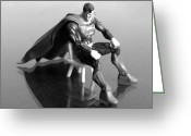 Superhero Greeting Cards - Rough Day Greeting Card by Andy Mulle