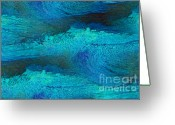 John Krakora Art Painting Greeting Cards - Rough Water 2 Greeting Card by John Krakora
