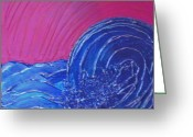 "\\\\\\\""storm Prints\\\\\\\\\\\\\\\"" Painting Greeting Cards - Rough Waters Greeting Card by Tami Bush"
