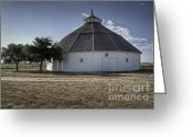 Round Barn Greeting Cards - Round Barn Kiowa KS Greeting Card by Fred Lassmann