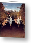 1908 Greeting Cards - Rousseau: Football, 1908 Greeting Card by Granger