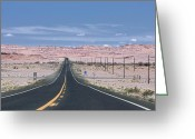 Black Mesa Greeting Cards - Route 160 Greeting Card by Viktor Savchenko