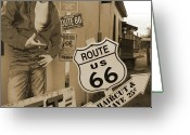 66 Greeting Cards - Route 66 Greeting Card by Mike McGlothlen