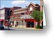 Street Greeting Cards - Route 66 Theater Greeting Card by Frank Romeo