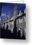 Professors Greeting Cards - Row Houses Stand Huddled Together Greeting Card by Taylor S. Kennedy