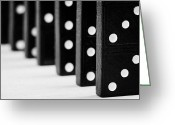 Game Piece Greeting Cards - Row Of Dominoes Greeting Card by Joe Fox
