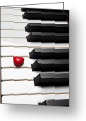 Pianos Greeting Cards - Row of piano keys Greeting Card by Garry Gay