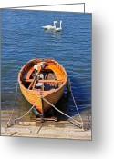 Travelling Greeting Cards - Rowboat Greeting Card by Joana Kruse