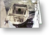 Jensen Beach Greeting Cards - Rowboat Greeting Card by Patrick M Lynch