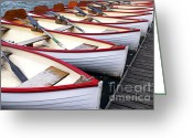 Holidays Greeting Cards - Rowboats Greeting Card by Elena Elisseeva