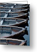 Fyn Greeting Cards - Rowboats Greeting Card by Robert Lacy