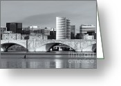 Arlington Memorial Bridge Greeting Cards - Rower on the Potomac River II Greeting Card by Clarence Holmes