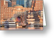 Suffolk County Greeting Cards - Rowes Wharf Greeting Card by Susan Cole Kelly