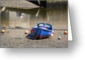 Tidal River Greeting Cards - Rowing boat Greeting Card by Jane Rix