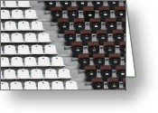 Hamburg Greeting Cards - Rows Of Seats In Different Colors Greeting Card by Befo
