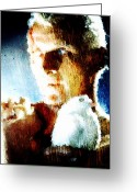 Nexus Greeting Cards - Roy Batty Greeting Card by Andrea Barbieri