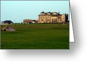 Lyle  Huisken Greeting Cards - Royal and Ancient Golf Club at St Andrews Greeting Card by Lyle  Huisken