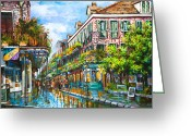 Scenes Greeting Cards - Royal at Pere Antoine Alley Greeting Card by Dianne Parks