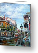 Peter French Greeting Cards - Royal Balconies Greeting Card by Dianne Parks