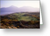 Rural Landscapes Greeting Cards - Royal Co. Down Golf Course Overlooked Greeting Card by Chris Hill