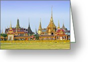 Ceremony Greeting Cards - Royal Cremation Ceremony Greeting Card by Vudhikrai Sovannakran