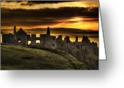 Northern Irish Art Greeting Cards - Royal Dunluce Greeting Card by David McFarland