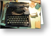 Typewriters Greeting Cards - Royal Greeting Card by Jan Amiss Photography